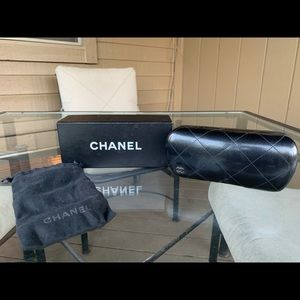 CHANEL Accessories - Chanel Sunglasses, Gray with Chain Details